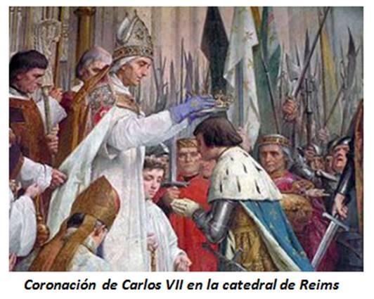 Resultado de imagen para Fotos de Juana de Arco hace abrir las puertas de Troyes a Carlos VII